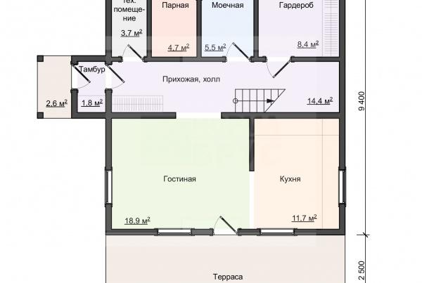 01-Мяглово-план 1 этажа