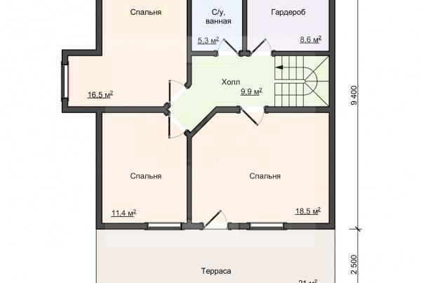 02-Мяглово-план 2 этажа