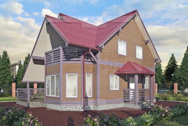Большой дачный дом два этажа НД 1-18