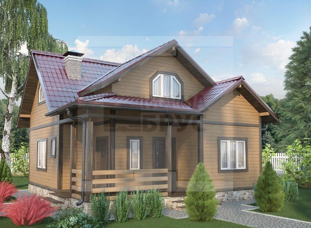 Двухэтажный дом из профилированного бруса НД 1-17