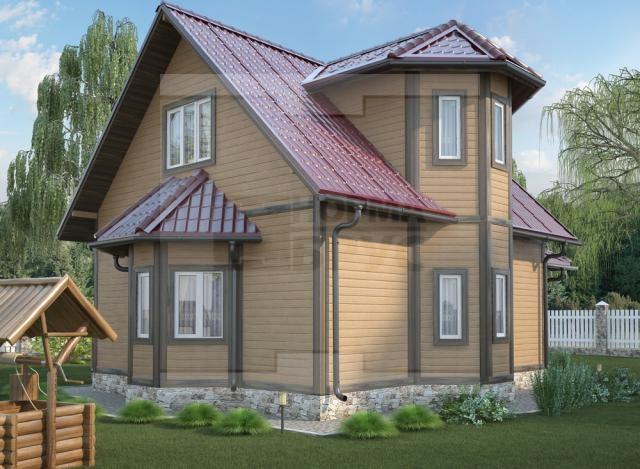 Средний дом из бруса НД 1-16