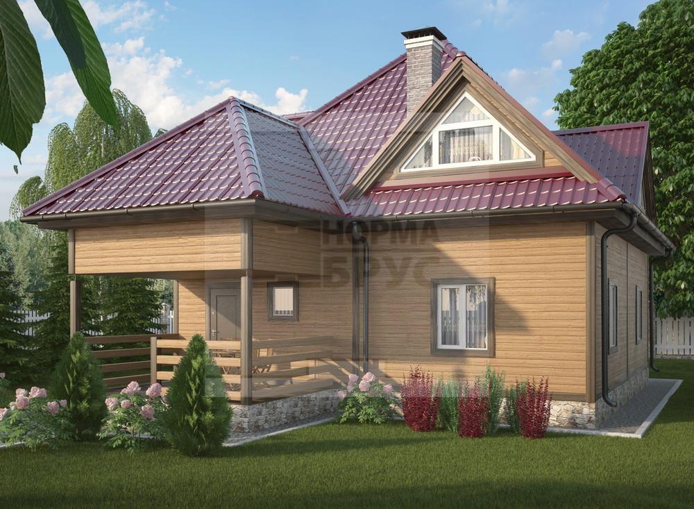 Загородный дом из профилированного бруса НД 1-25