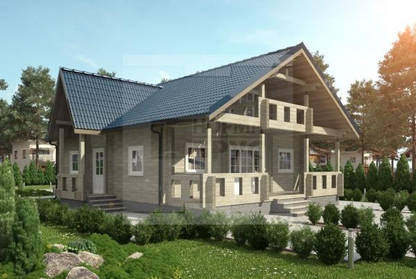 Двухэтажный загородный дом средний НД 1-28