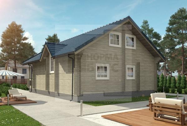 Загородный дом средний НД 1-28