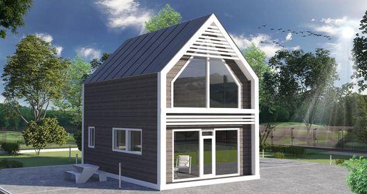 Проект загородного двухэтажного каркасного дома НК 2 с завода производителя Нормабрус по самой выгодной цене в Санкт-Петербурге
