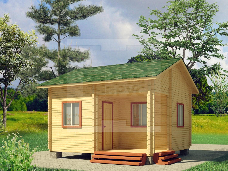 Фото одноэтажного дачного дома из профилированного бруса НД 1-6