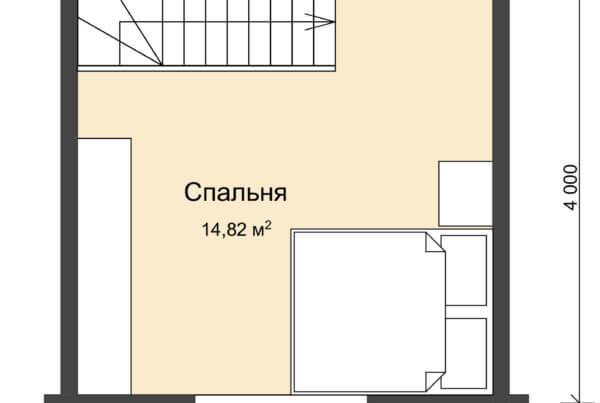 План мансарды дома из профилированного бруса