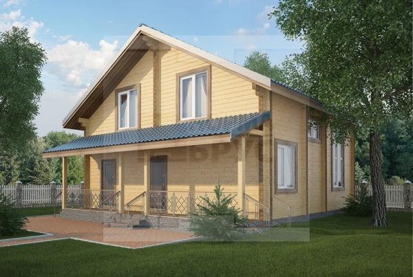 Двухэтажный дом из профилированного бруса