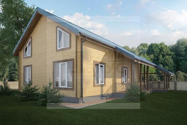 Двухэтажный дом из профилированного бруса площадь 220 кв. м