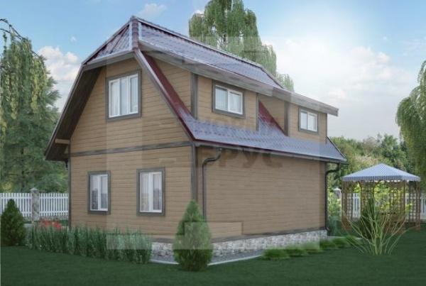 Небольшой двухэтажный дом из профилированного бруса НД 1-15
