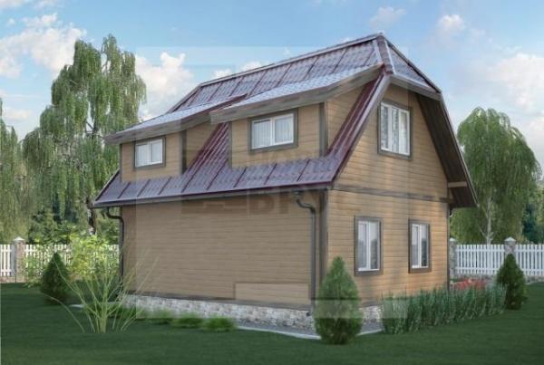 Маленький двухэтажный дом из дерева НД 1-15