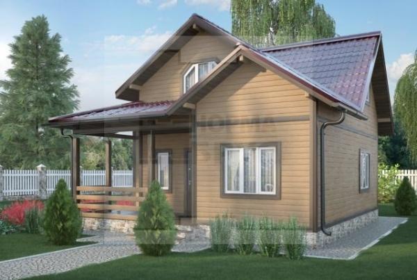 Дом из бруса НД 1-17