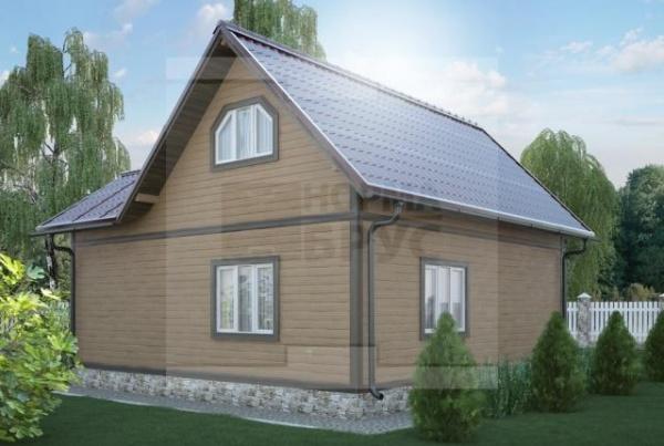 Двухэтажный дом из бруса НД 1-17
