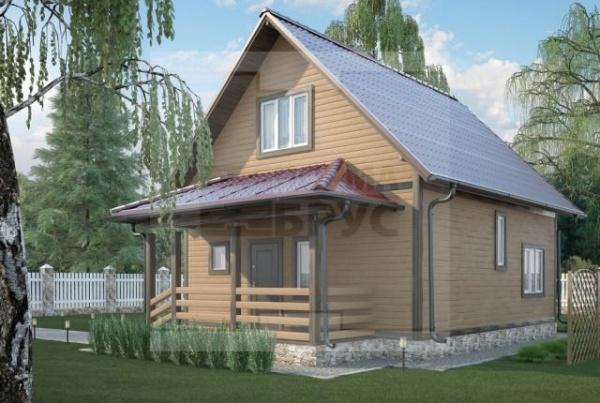 Дом из бруса среднего размера НД 1-16