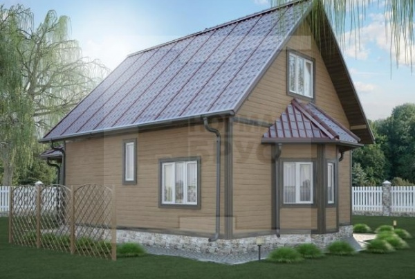 Средний дом из профилированного бруса НД 1-16