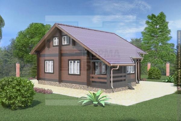 Дом из профилированного бруса НД 1-19