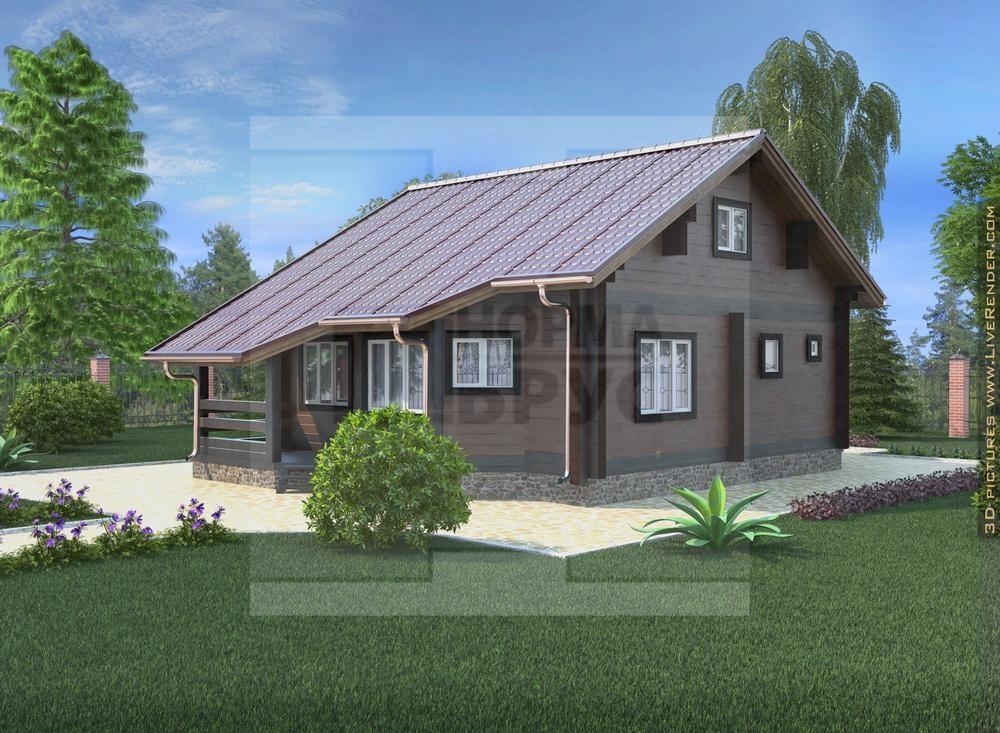 Проект дома из профилированного бруса НД 1-19