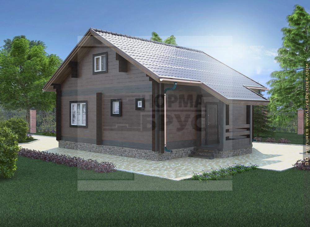 Проект большого дома из профилированного бруса НД 1-19