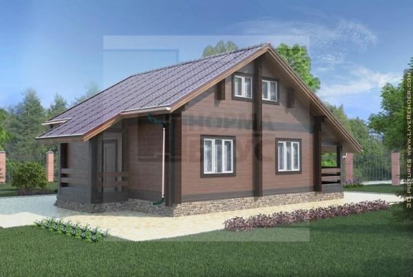 Большой дом из профилированного бруса НД 1-19