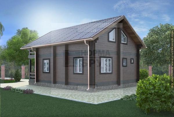 Двухэтажный дом Нормабрус