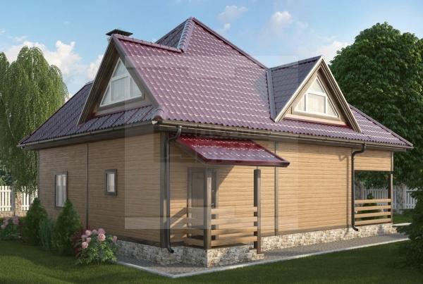 Загородный дом из бруса НД 1-25