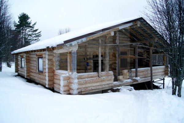 Строительсто деревянного сруба
