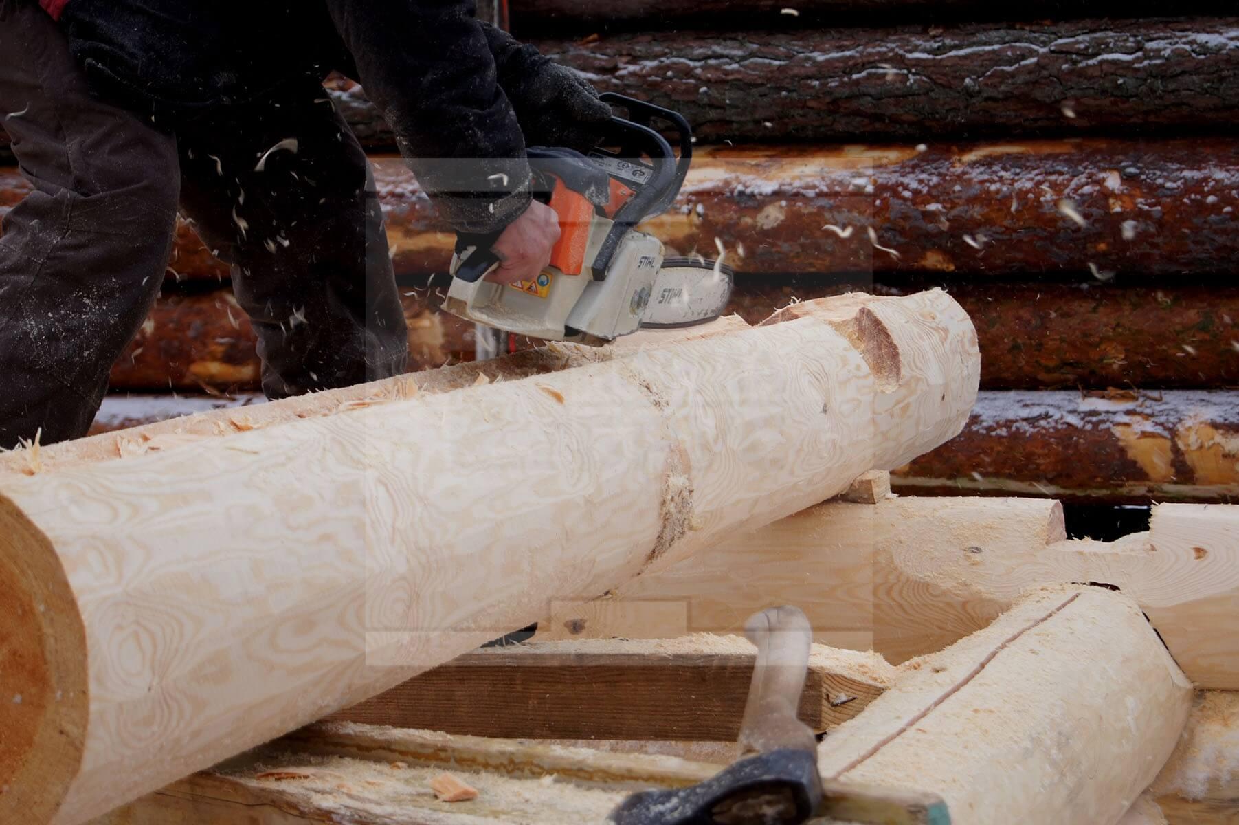 Бревно для строительства сруба