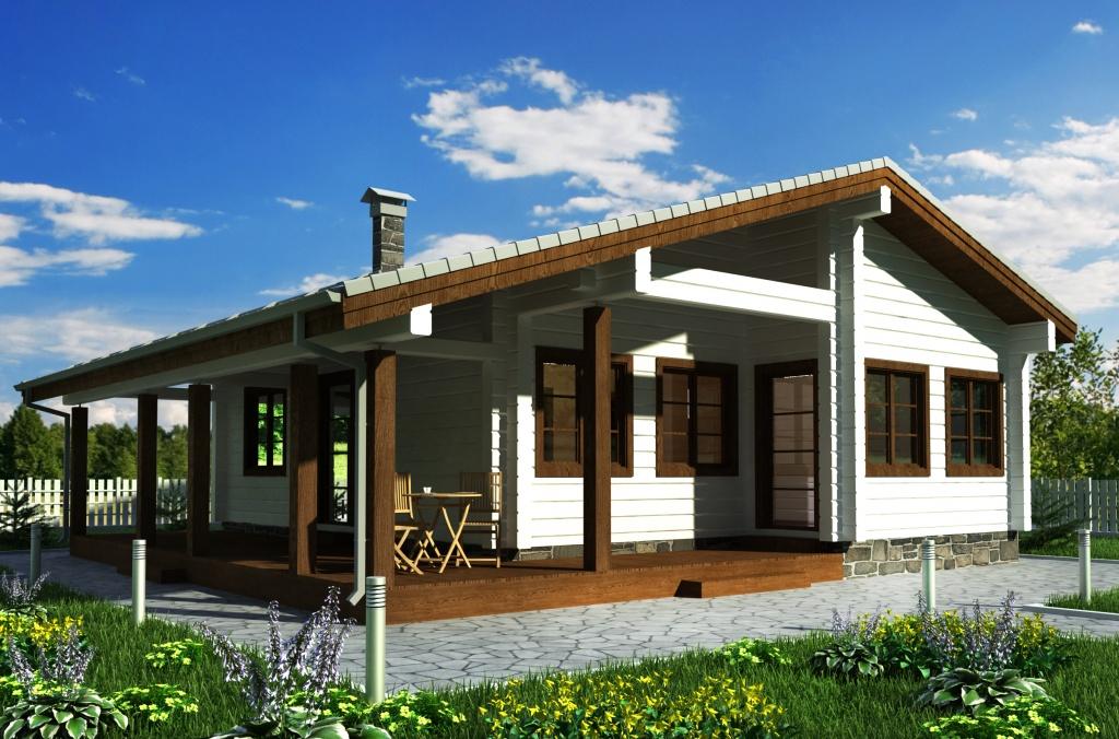 Визуализация при проектировании деревянного дома вид 2