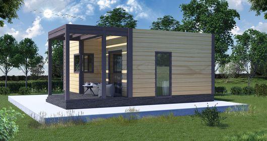 ебольшой каркасный дом одноэтажный НК 5 площадь 39 кв.м