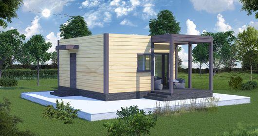 Проект каркасного дома одноэтажного НК 5