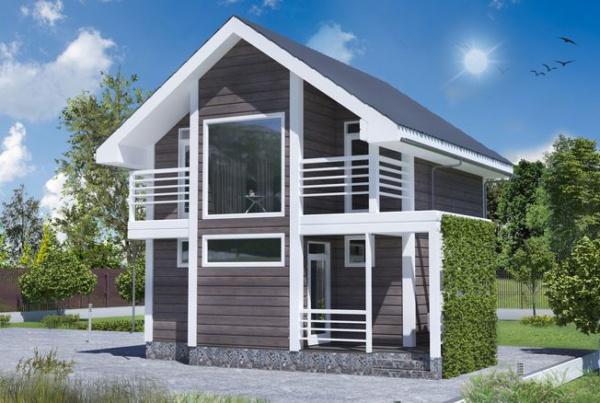 Проект каркасного дома 6 на 6 под ключ