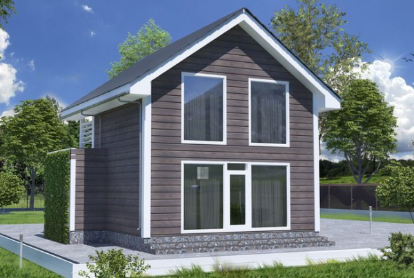 Каркасный дом 6 на 6 м двухэтажный